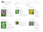 Summer Plant Profile III